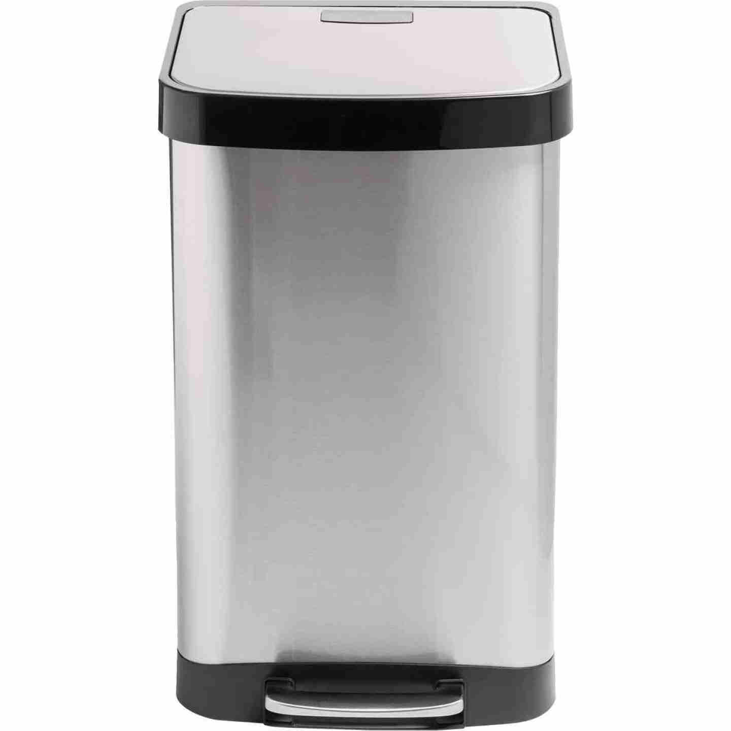 Honey Can Do 50L Stainless Steel Wastebasket Image 1