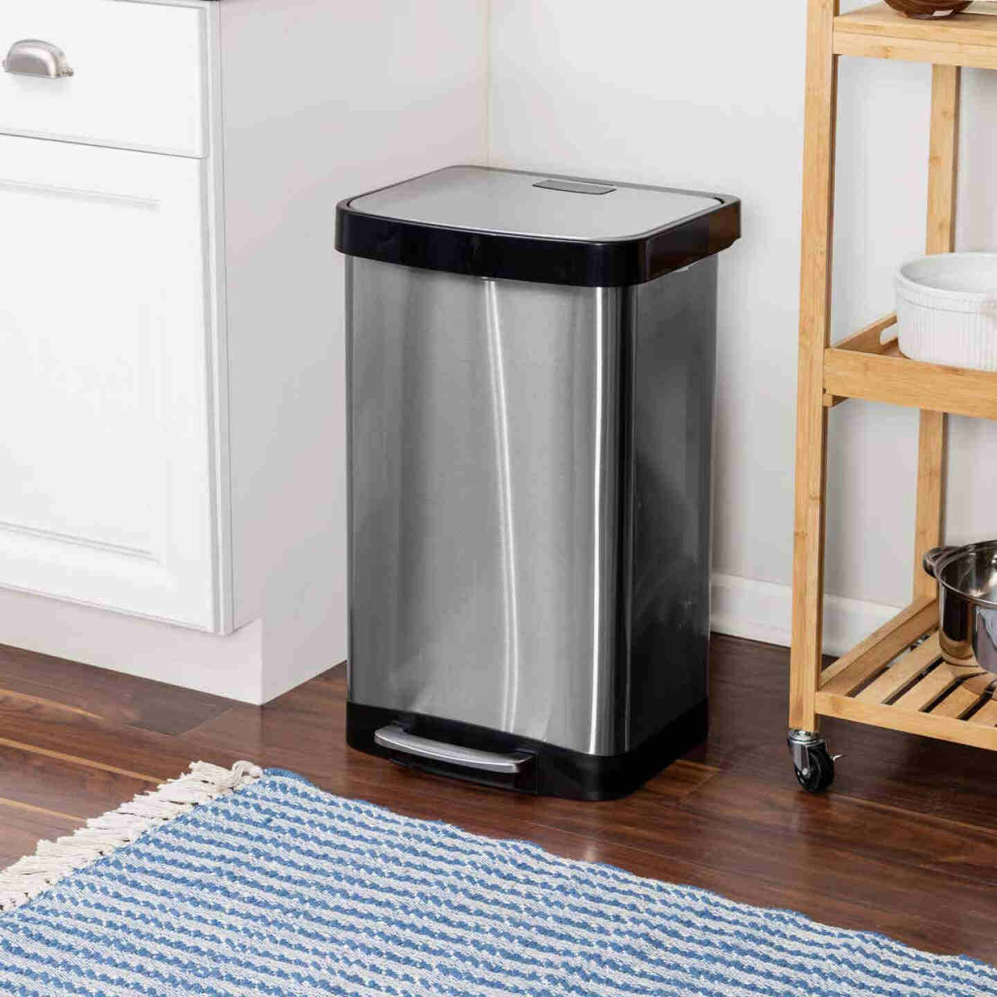 Honey Can Do 50L Stainless Steel Wastebasket Image 2