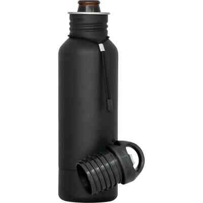 BottleKeeper 12 Oz. Black Stainless Steel Insulated Drink Holder
