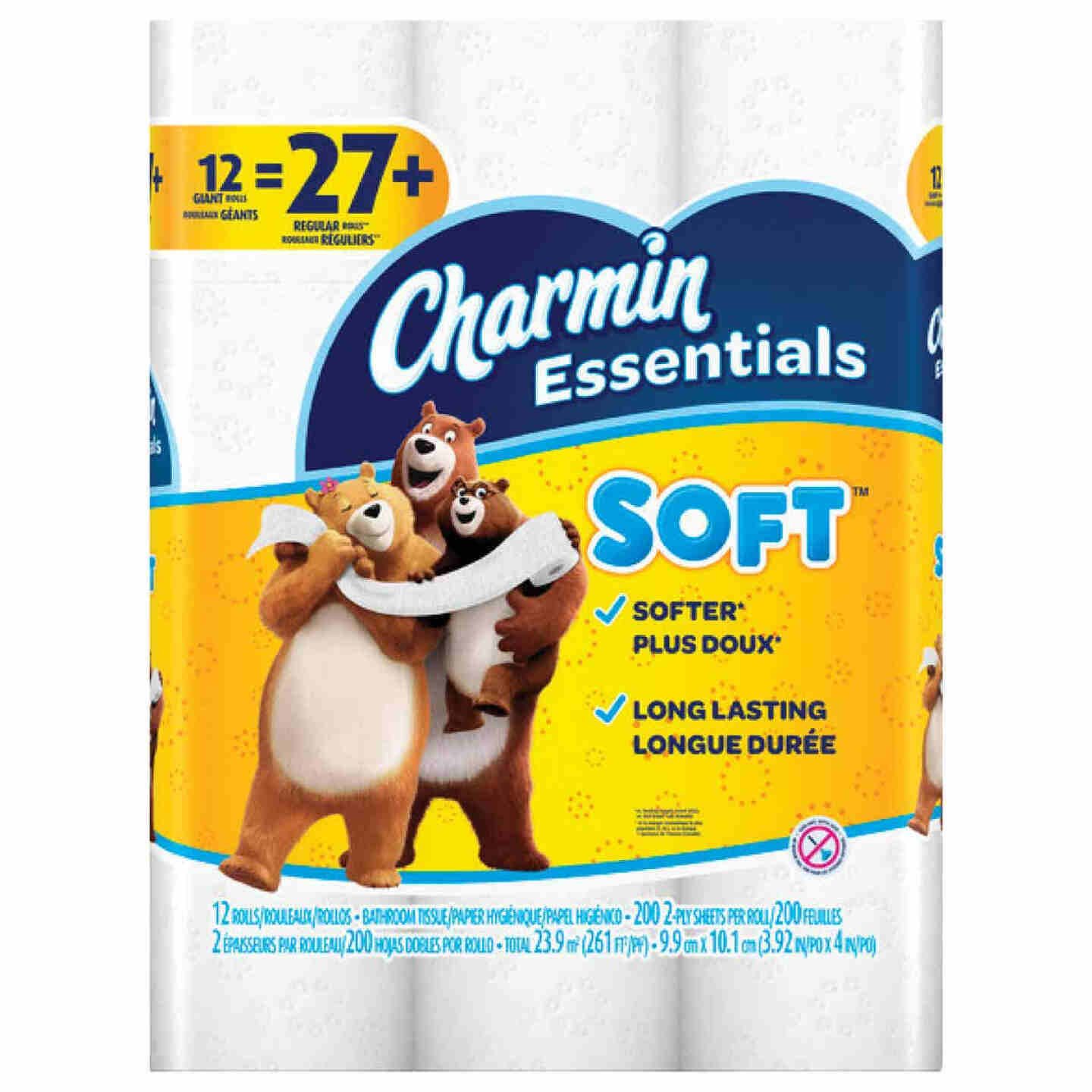 Charmin Essentials Soft Toilet Paper (12 Giant Rolls) Image 1