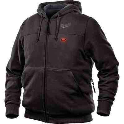 Milwaukee M12 XL Black Men's Heated Full Zip Hooded Sweatshirt