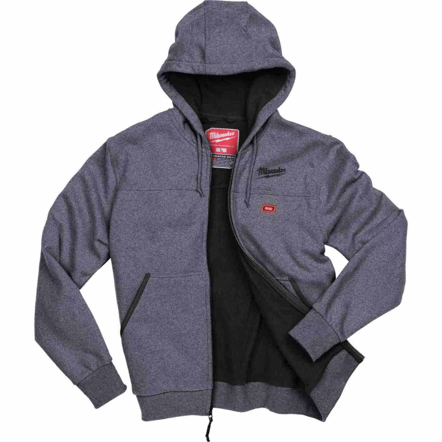 Milwaukee M12 Medium Gray Men's Heated Full Zip Hooded Sweatshirt Image 8