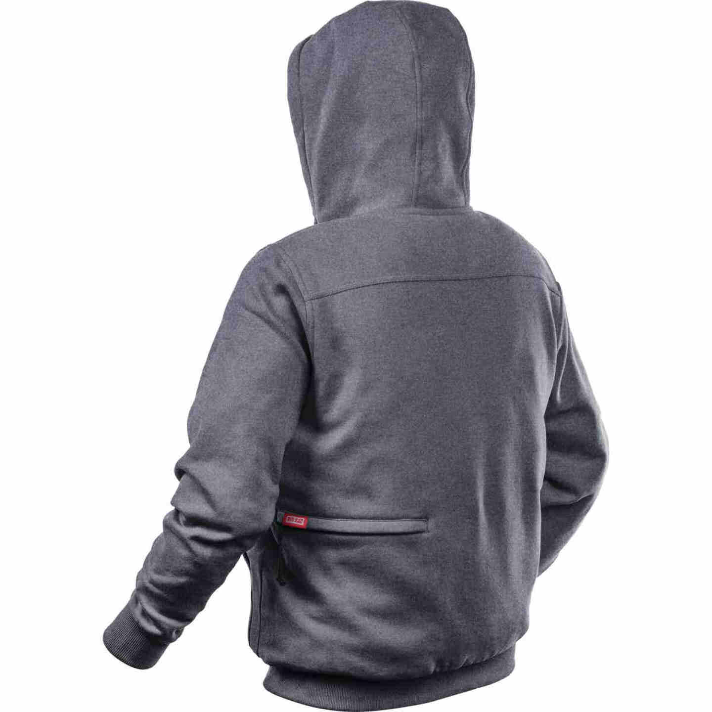 Milwaukee M12 Medium Gray Men's Heated Full Zip Hooded Sweatshirt Image 3