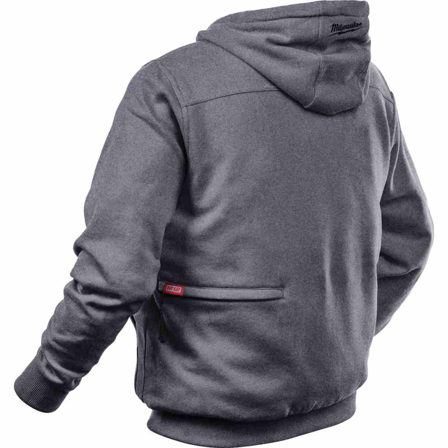 Milwaukee M12 Medium Gray Men's Heated Full Zip Hooded Sweatshirt Image 5