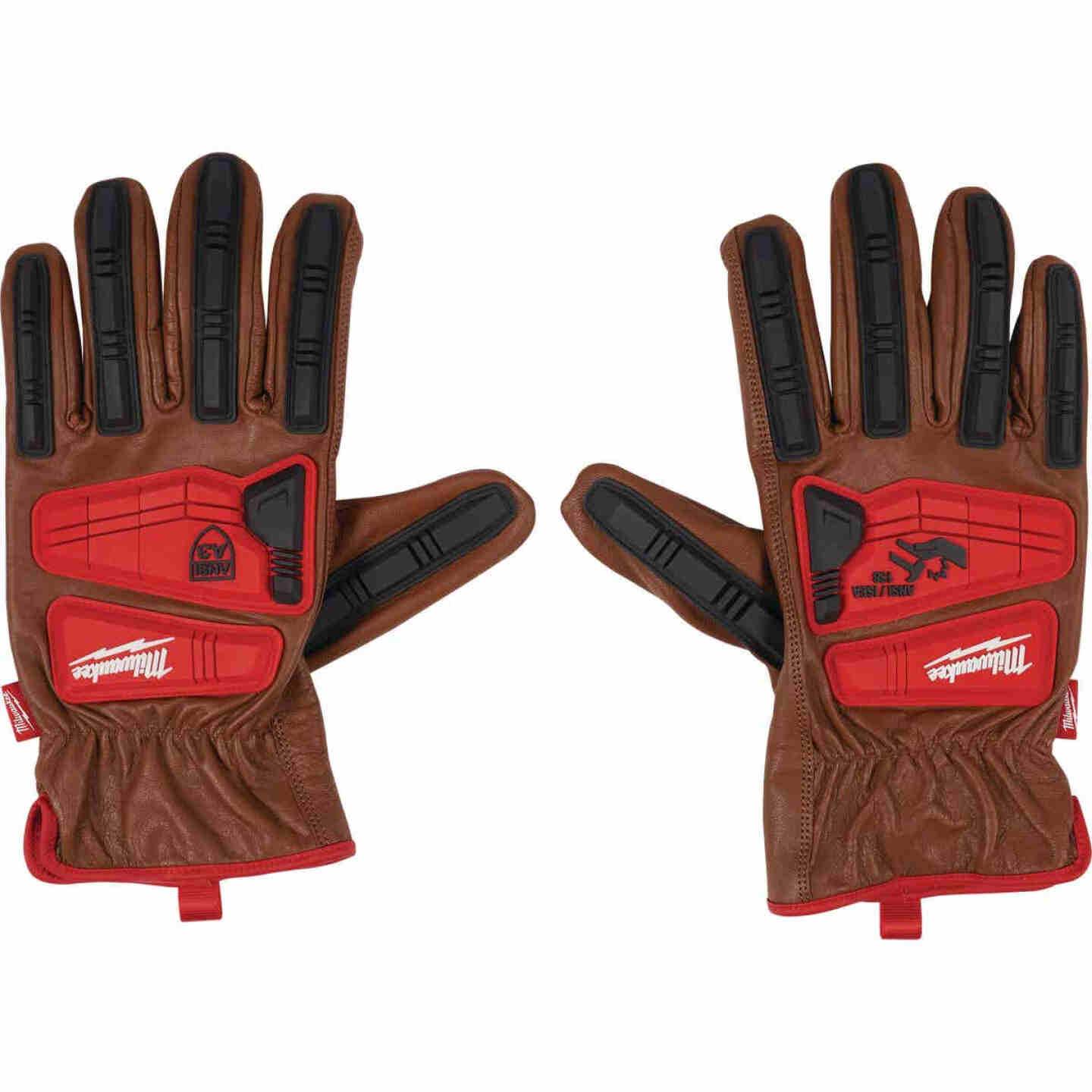 Milwaukee Impact Cut Level 3 Men's Large Goatskin Leather Work Gloves Image 1