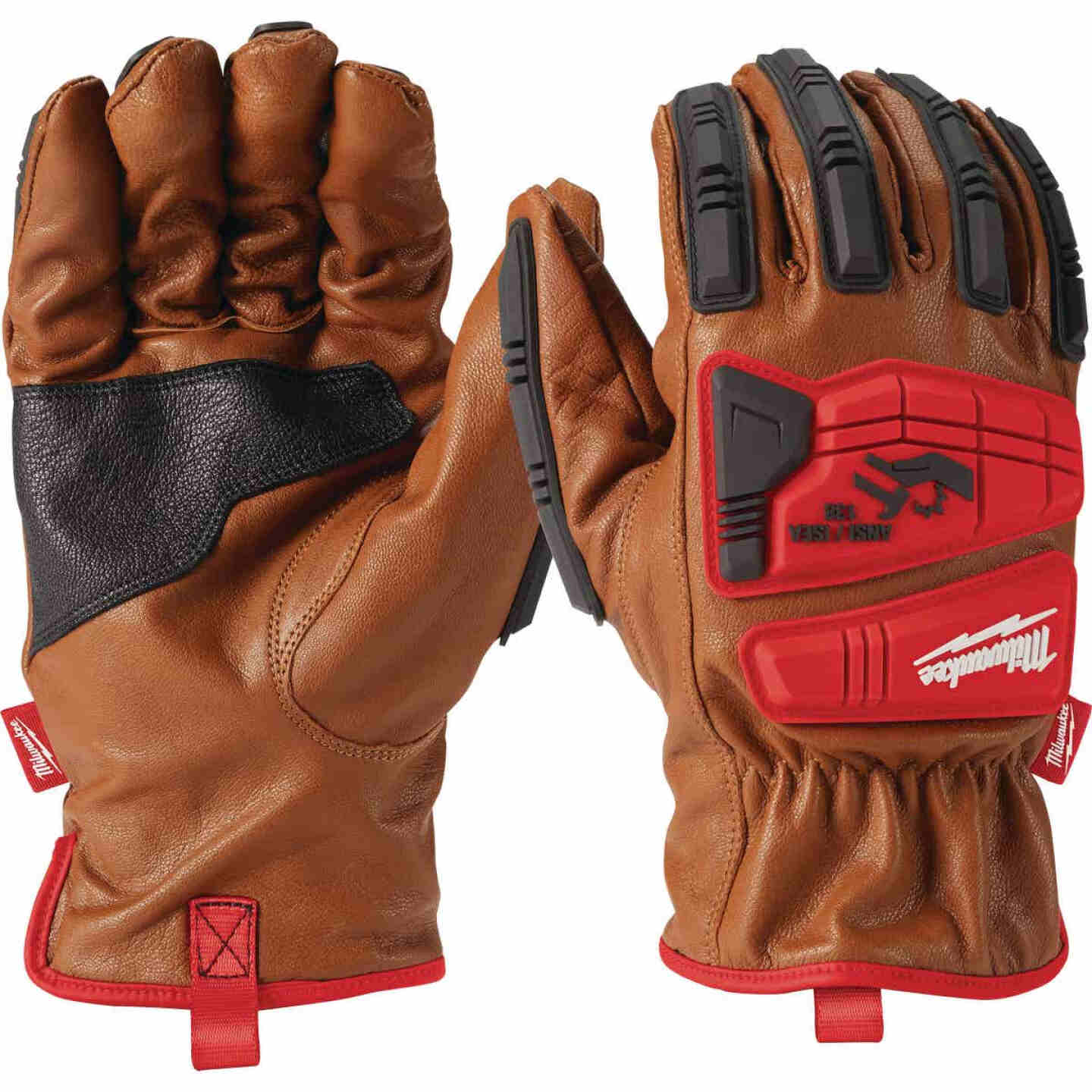 Milwaukee Impact Cut Level 3 Men's Large Goatskin Leather Work Gloves Image 3