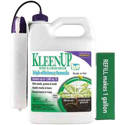 Bonide KleenUp High Efficiency Formula 1 Gal. Ready To Use Wand Sprayer Weed & Grass Killer