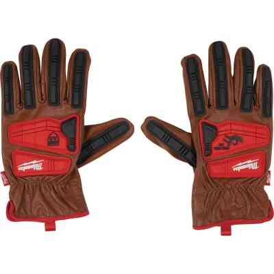 Milwaukee Impact Cut Level 3 Men's XL Goatskin Leather Work Gloves