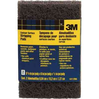 3M 3-7/8 In. x 6 In. Heavy-Duty Paint Stripping Pad (2-Pack)