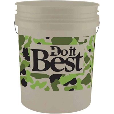Do it Best 5 Gal. White Pail with Camo Logo