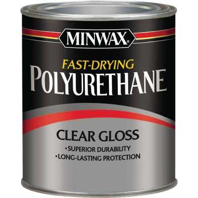 Minwax Gloss Fast-Drying Interior Polyurethane, 1 Qt.