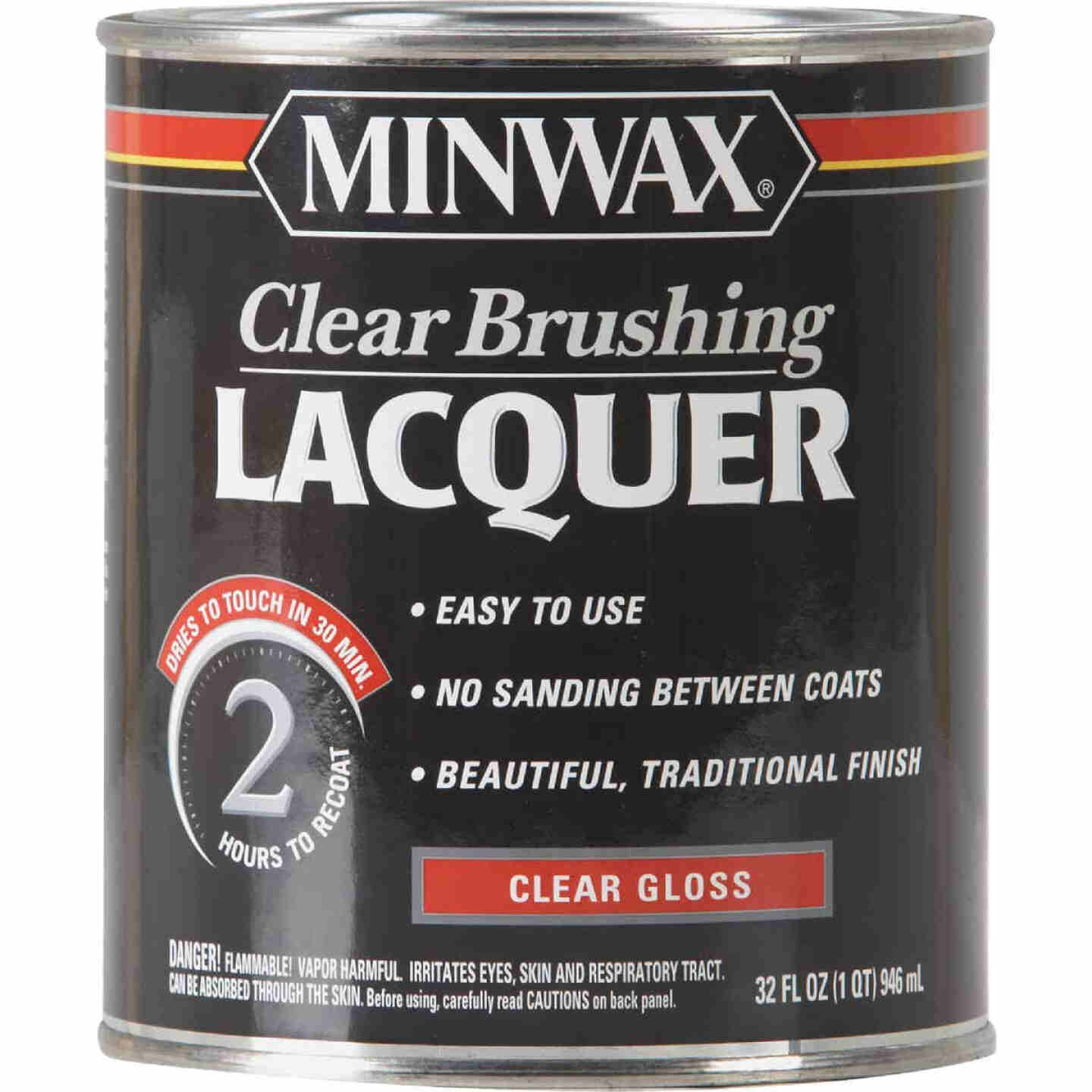 Minwax Gloss Clear Brushing Lacquer, 1 Qt. Image 1