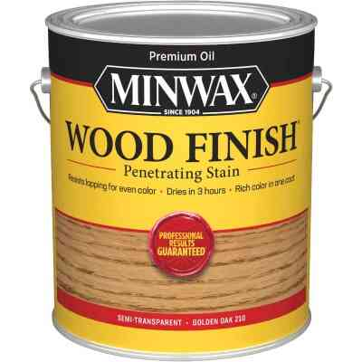 Minwax Wood Finish VOC Penetrating Stain, Golden Oak, 1 Gal.