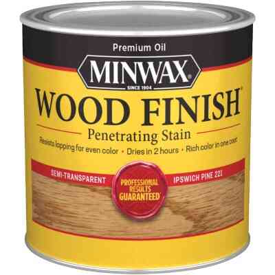 Minwax Wood Finish Penetrating Stain, Ipswich Pine, 1/2 Pt.
