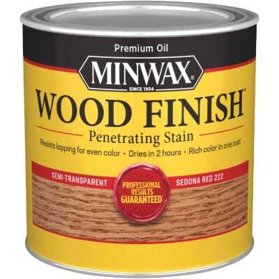 Minwax Wood Finish Penetrating Stain, Sedona Red, 1/2 Pt.