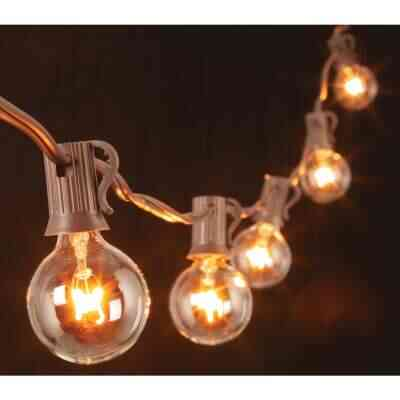 Gerson 20 Ft. 20-Light Clear Bulb String Lights