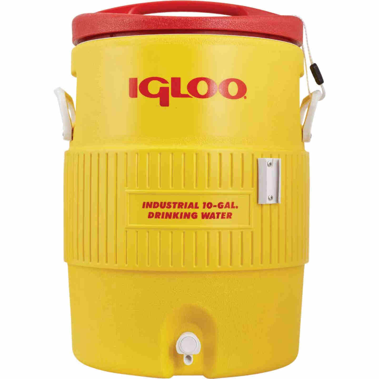 Igloo 10 Gal. Yellow Industrial Water Jug with Cup Dispenser Bracket Image 2
