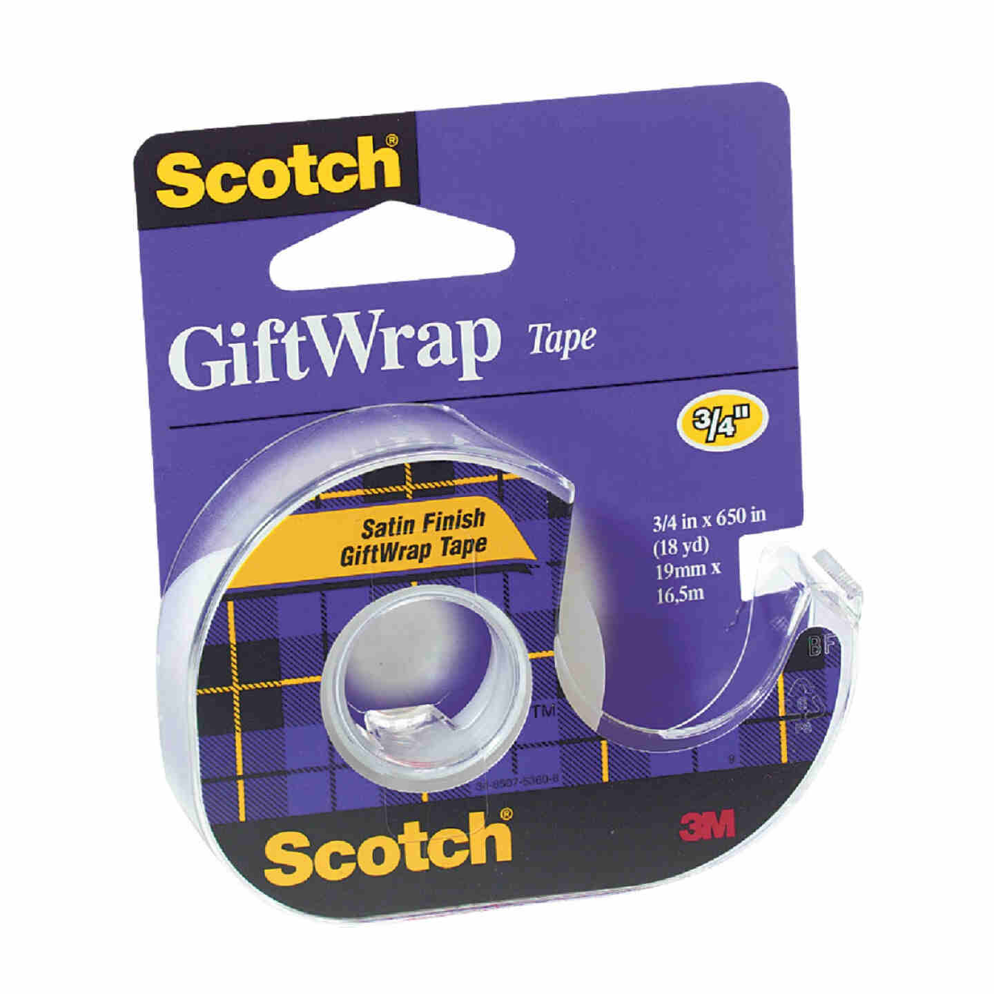 3M Scotch 3/4 In. x 650 In. Gift-Wrap Transparent Tape Image 1